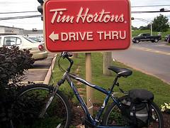 Tim Horton's bike PEI