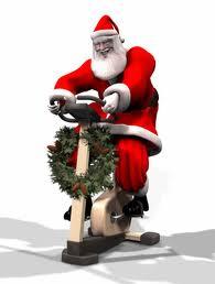 Santa on Spin Bike