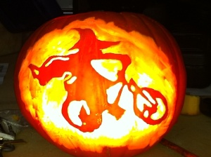 halloween pumpkin bike